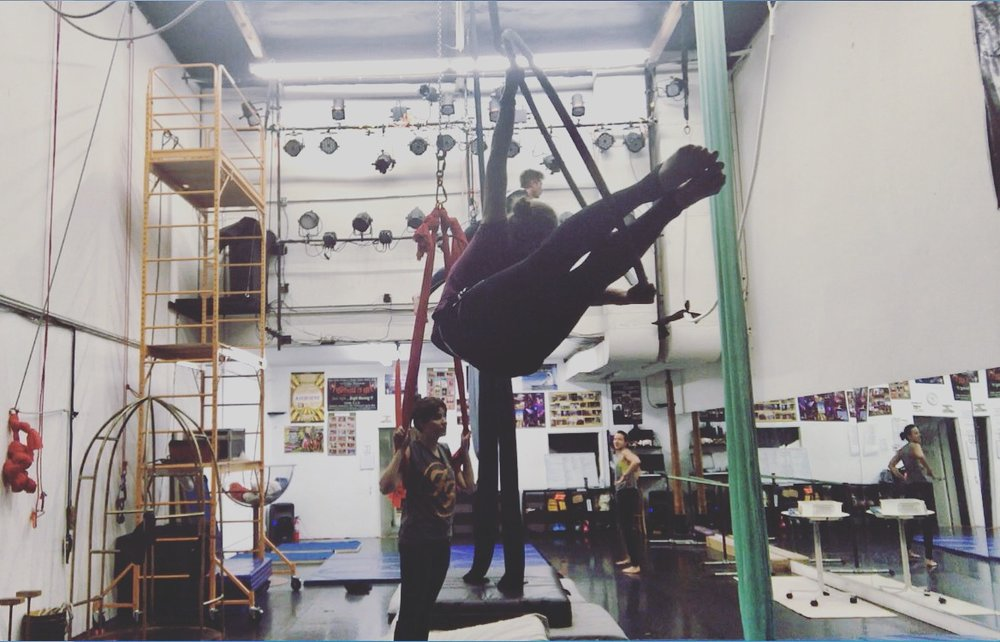 16 February 2017. Orange County, CA. Dance Trapeze.