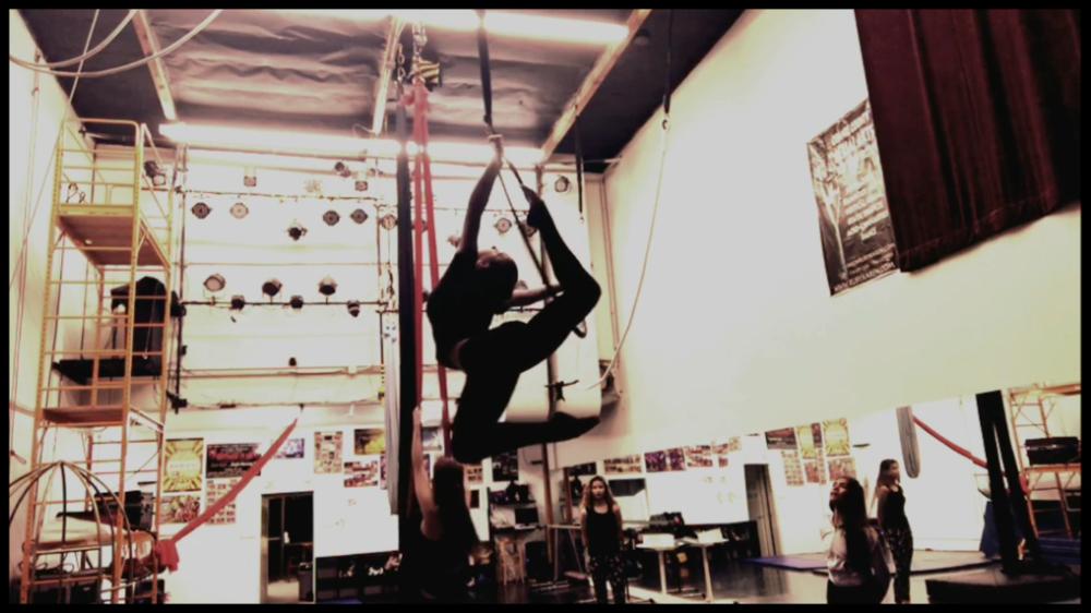 2 March 2017. Orange County, CA. Aerial Hoop. Ruby Karen Project.