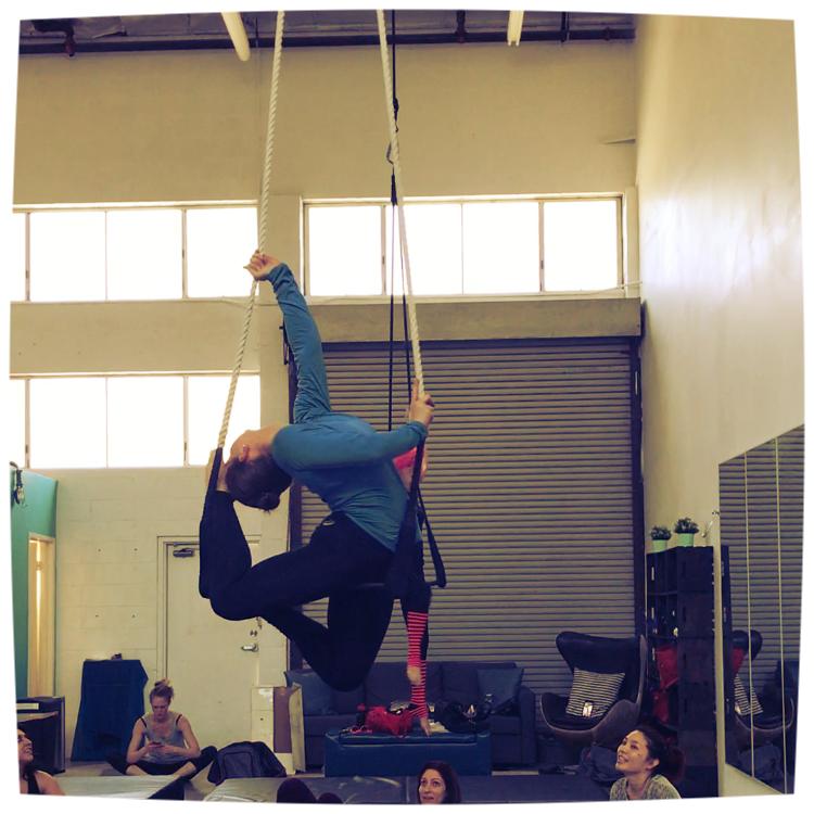 4 June 2017. Los Angeles, CA. Dance trapeze.