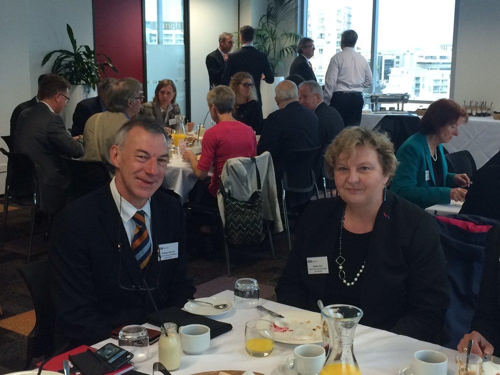 Philippe Meneut (Directeur de NZS et conseiller en immigration) et Nadine Plet (Presidente de la FNZCCI)