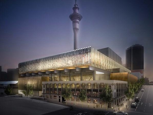 Futur Centre international des congrès de Nouvelle-Zélande dans le centre d'Auckland