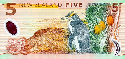 5 Dollars Billet NZ