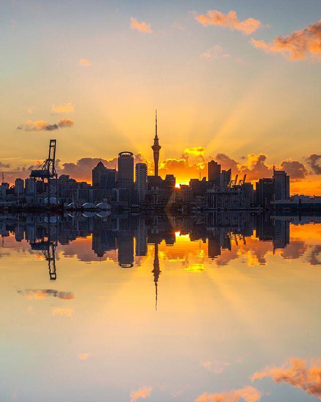 Quand la Sky Tower d'Auckland se pare de mille lumières 😍 Qui a dit que la ville d'Auckland ne valait pas le détour ? 📷 by @mrlesterchan . . . . #newzealand #nouvellezelande #auckland #skytower #skytowerauckland #sunset #ciel #nztravel #travellingnewzealand #immigration #expatlife #travelphotography #travellover