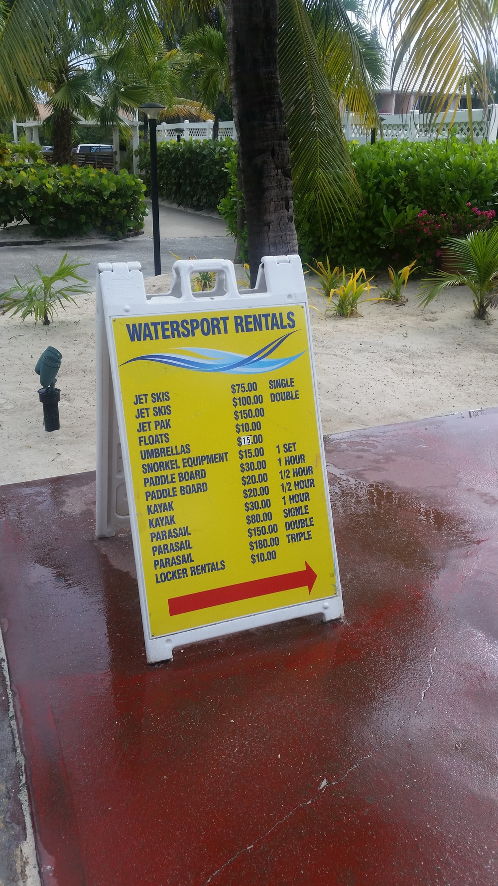 Royal Palm's Watersports Prices