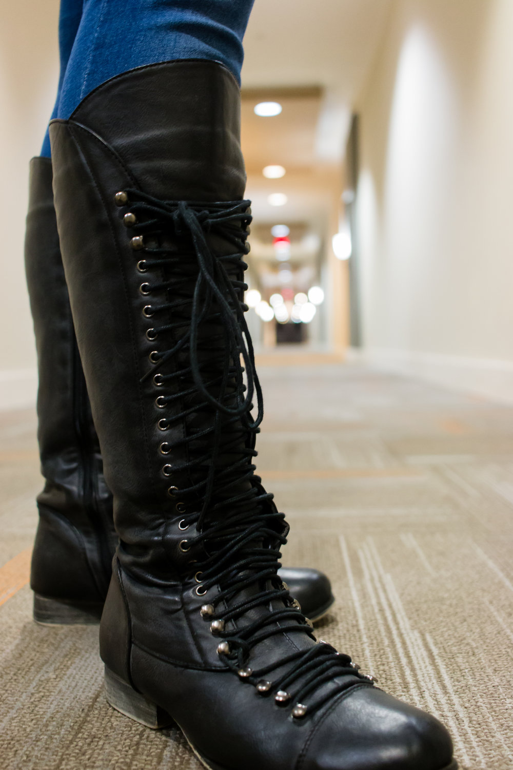You might look cute wearing your lace up boots but how long will it take you to remove them?