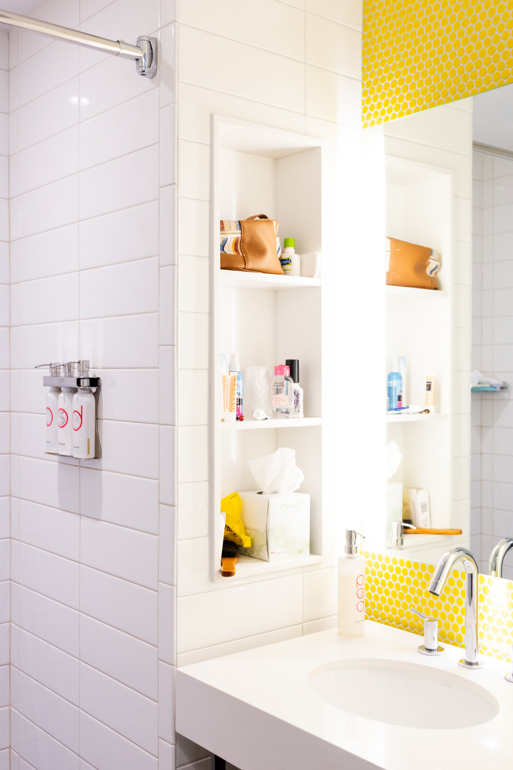 Bathroom with product dispensers!