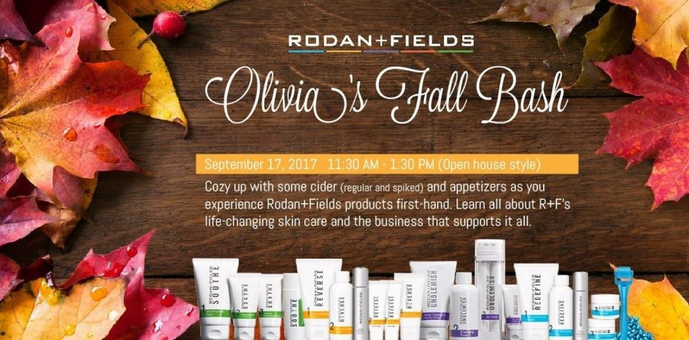 To kick off my business with Rodan+Fields, I hosted a party to promote my business launch. My goal was to really play it up as a fun event that people were not going to want to miss out on. By playing it up as a fall bash, people percieved this as more of a fun place to learn about the products while conversing with friends rather than a dryed up presentation or your average sales party.