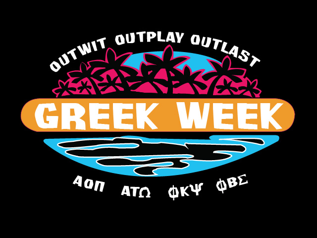 Once a year, all of the greek life on Ball State's campus gets together to compete in a series of competitions that benefits a non-profit. The theme for this Greek Week was Survivor. So, I took a spin on the Survivor logo and made it relative to Greek Week.