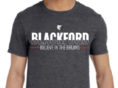 Public Short Sleeve:  The Blackford High school Booster Club asked me to design a series of shirts to be able to sell to the students and the public. As an one of the many alumni from Blackford, I was so excited I was able to give back to the school.