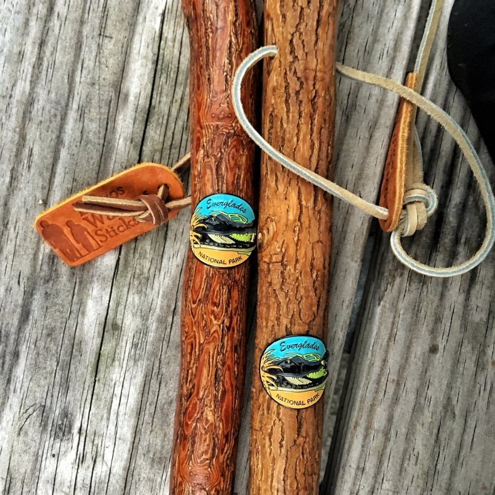 Everglades National Park marks our first hiking stick medallions -- this is going to be our treasured keepsake at the end of '16.