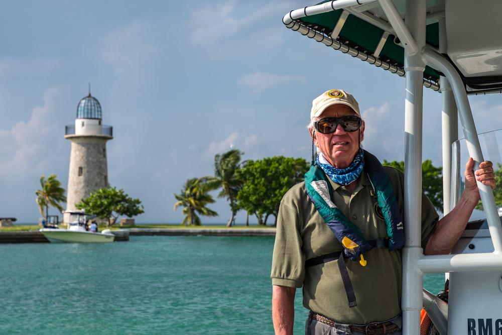 Captian Paul, National Park Service volunteer at Biscayne NP.   Credit: Jonathan Irish
