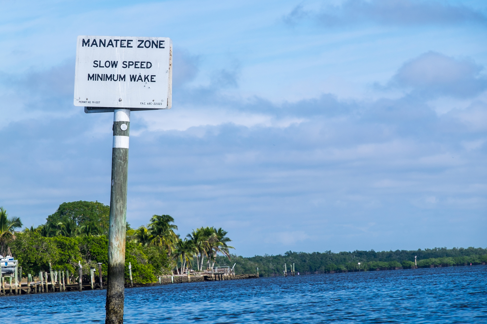 Manatee Zone in Everglades National Park, Florida.