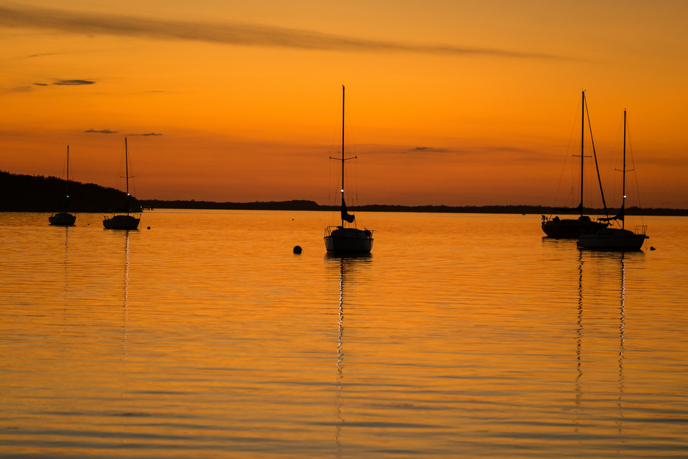 Sailboats in the sunset....a beautiful sight.