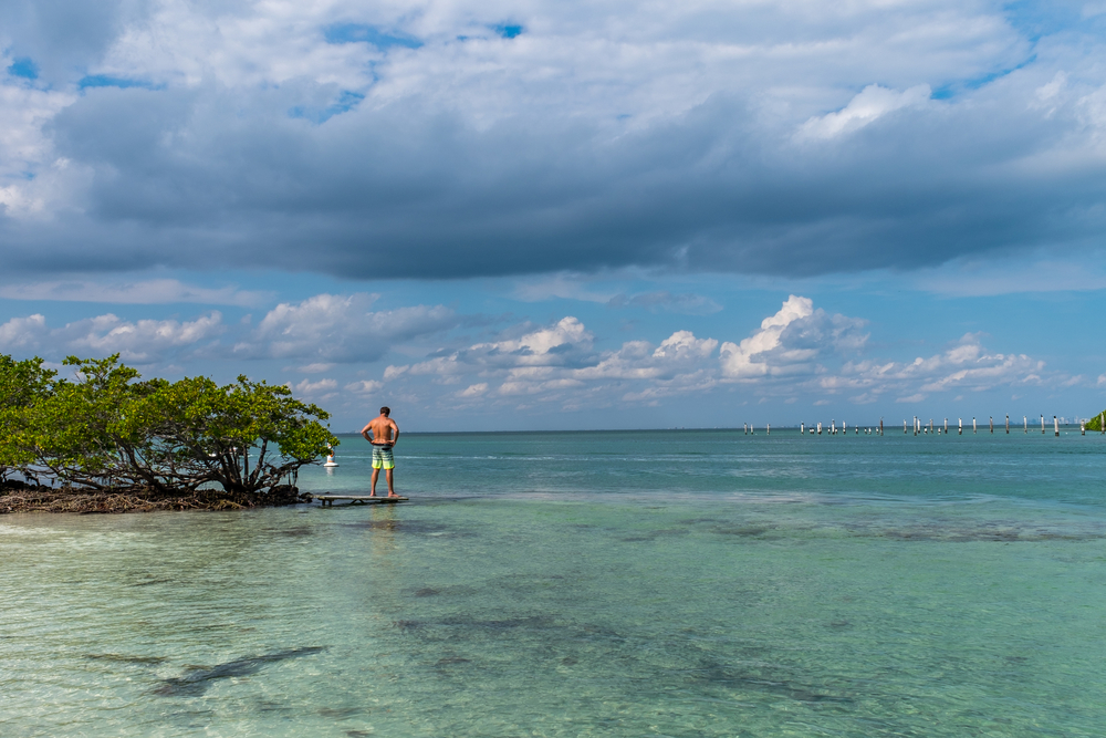 Although the view to the east is beautiful. This is the one and only beach on the Boca Chita Key.