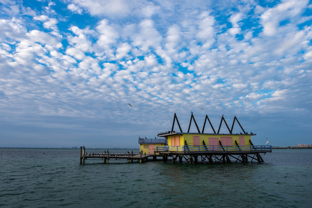 She tour included a trip to Stiltsville. located within the park, Stiltsville is a small grouping of houses built on stilts with a strange and torrid history (see the article below).