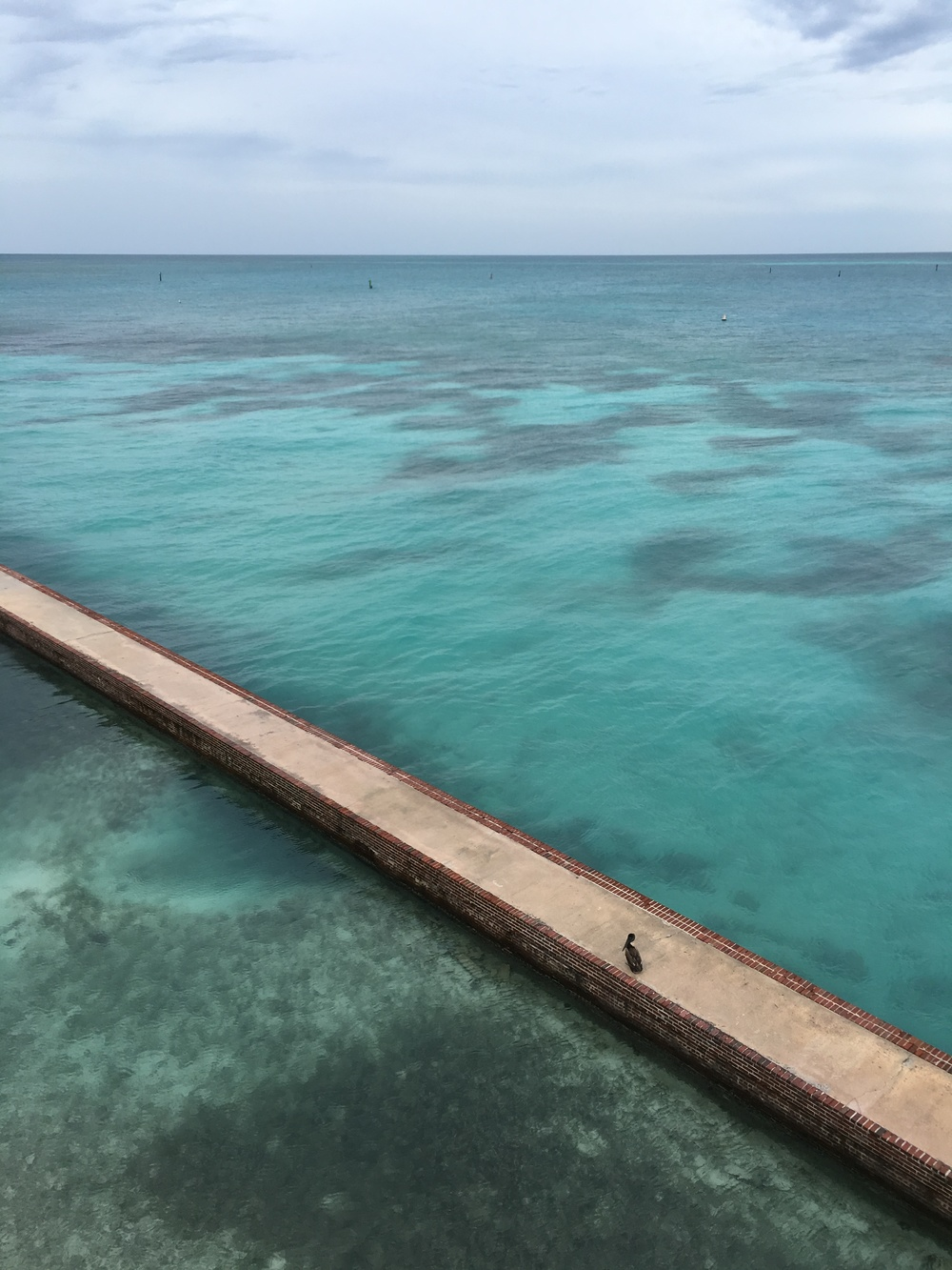 Moat wall at Dry Tortugas National Park. Photo credit: Jonathan Irish