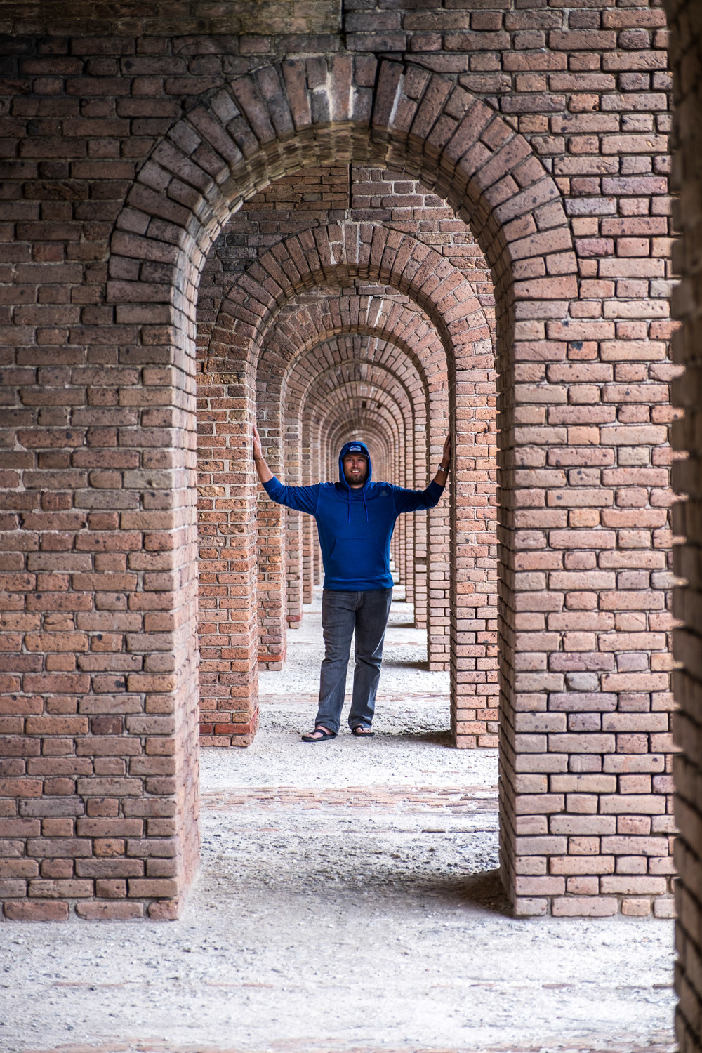 JI posing in the labyrinth halls of the fortress.