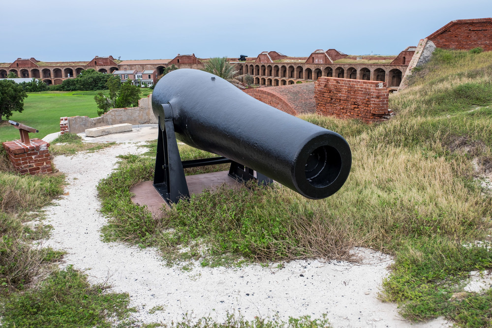 I will never fully understand how they got these gigantic cannons (weighing 50,000 pounds) on top of the wall.