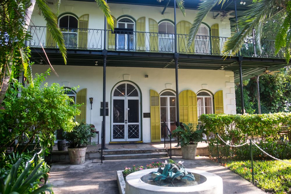 hem lived in key west while writing two of his most celebrated novels a farewell to arms and for whom the bell tolls the two story house with wraparound - Garden House Key West