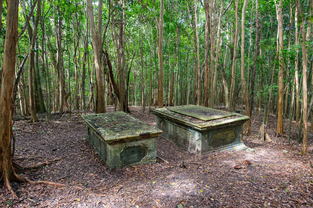 Graves of the plantation owners, which were always well marked (unlike the graves of the slaves.)
