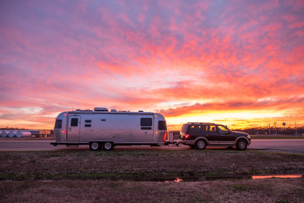 "We've affectionately named our Airstream ""Wally"", and had to grab a few photos of Wally in the sunset."