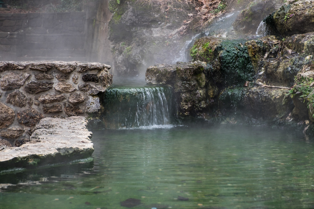 The thermal waters are incredibly hot, and accessible right in the town.