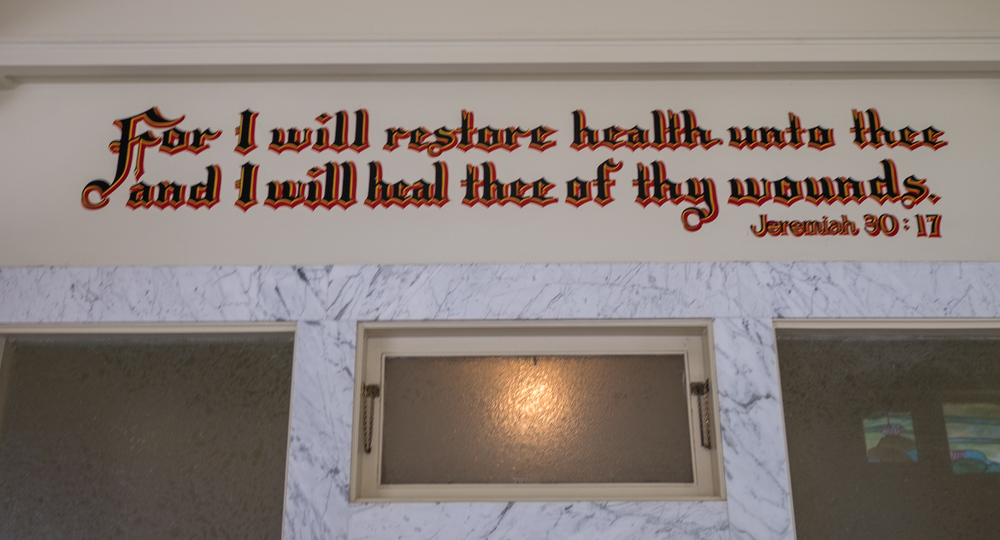 This was the saying above the door that truly is what they believed...the healing powers of the baths and a healthy lifestyle.
