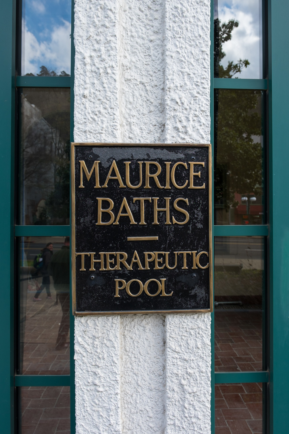 The entrance to the Maurice Bath Houses, once one of the nicest on the row!