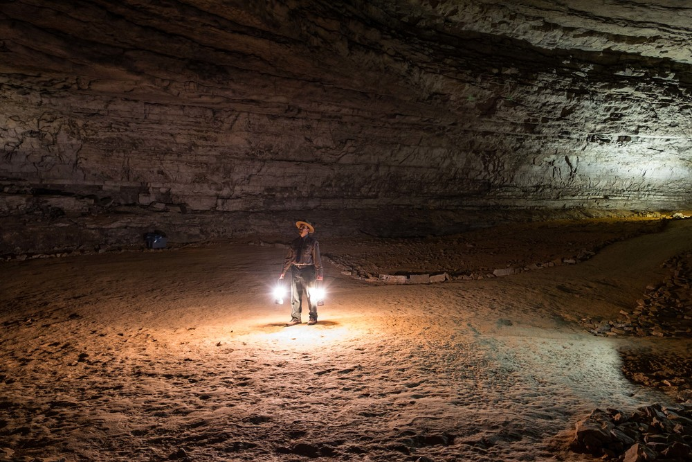Ranger jackie was a good sport and let me take some really cool photos of him inside the cave.