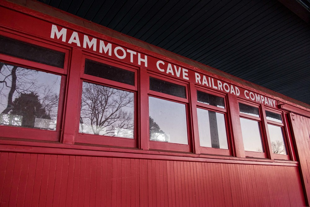 The old Mammoth Cave trains.