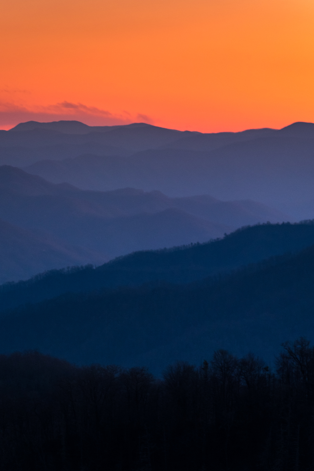 Ever since I first laid eyes on the beautiful layered mountain photos of the Great Smokies, I wanted to capture them too. Check!