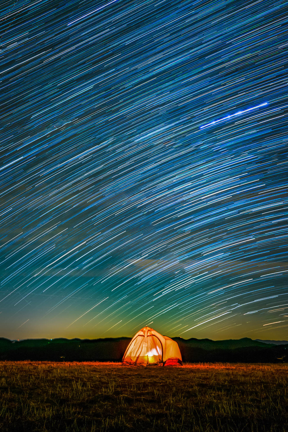 Star trails over our tent in the Smokies. Time for the next park! Onward...