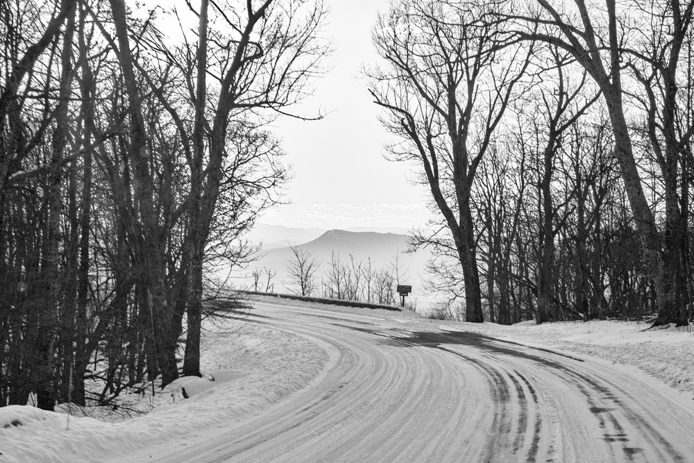Frozen Skyline Drive.