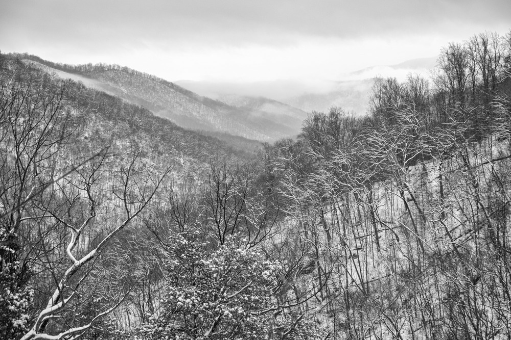 A beautiful lookout over White Oak canyon in winter. this was our high point on the trail.