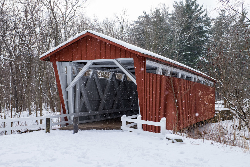 The Everett Covered Bridge is no longer a working bridge, but at one time it was the main thoroughfare through the park. Today, it is a beautiful covered bridge to walk through and photograph.