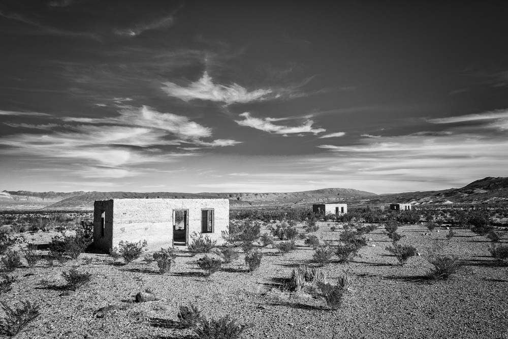 Some of the leftover miner houses. I liked this in black and white.
