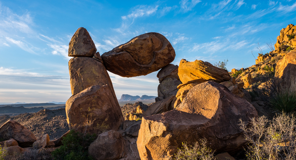 We hiked for a sunrise at Balance Rock along the Grapevine Hills Road..probably one of our favorite places in the park.