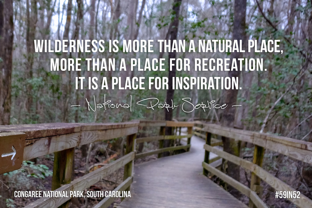 """Wilderness is more than a natural place  , more than a place for recreation. It is a place for inspiration.""  - National Park Service"