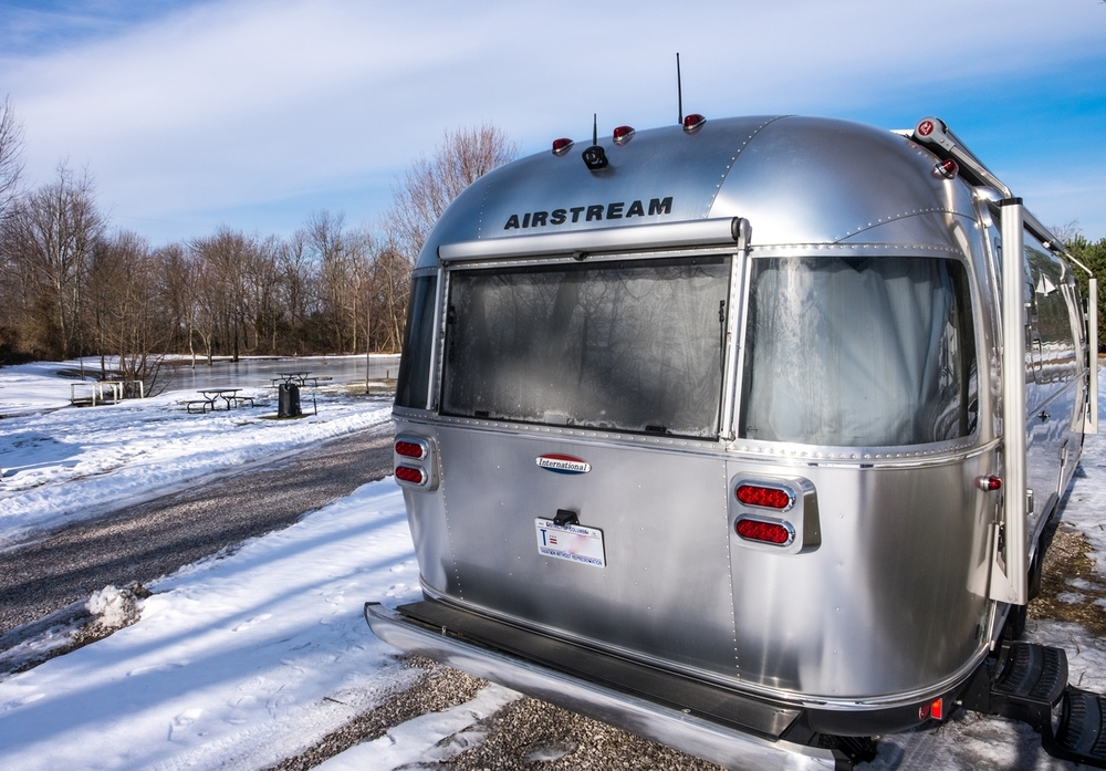 Airstream International Signature on the way to Mammoth Cave National Park in Kentucky.