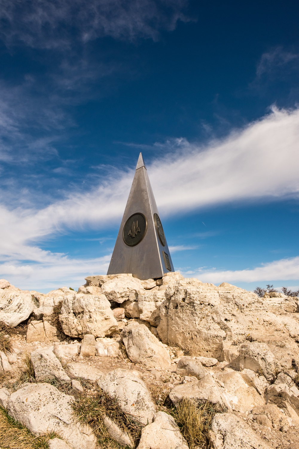 The pinnacle point on Texas' highest peak.