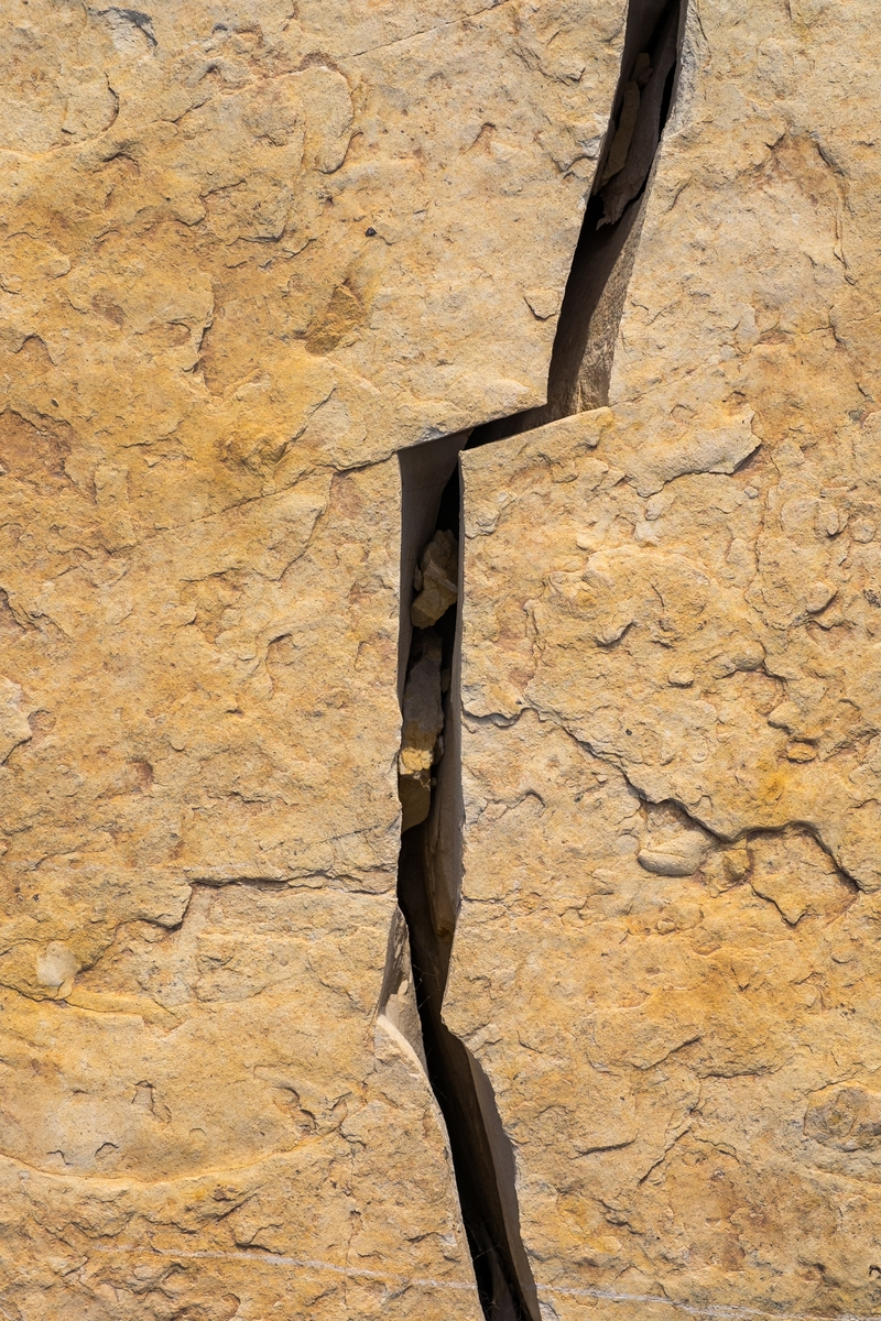 Cracks in the canyon at Big Bend National Park.