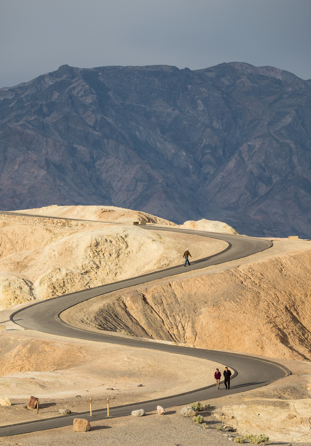 The walkway up to Zabriskie Point offers a lot of fun ways to shoot.
