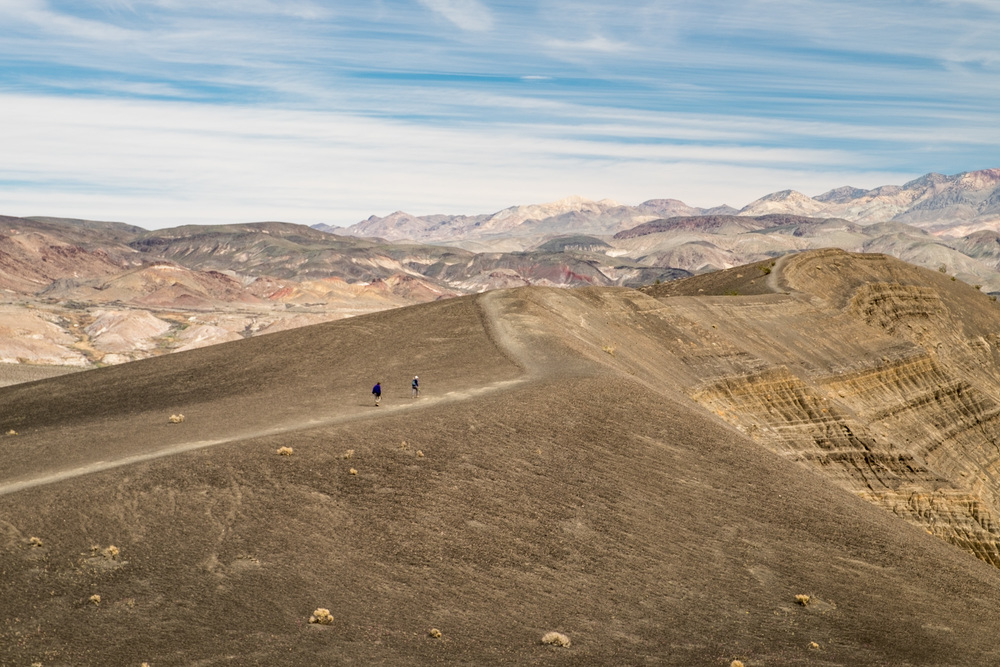 We took a trip to the far northwest part of the park, passing Ubehebe Crater.