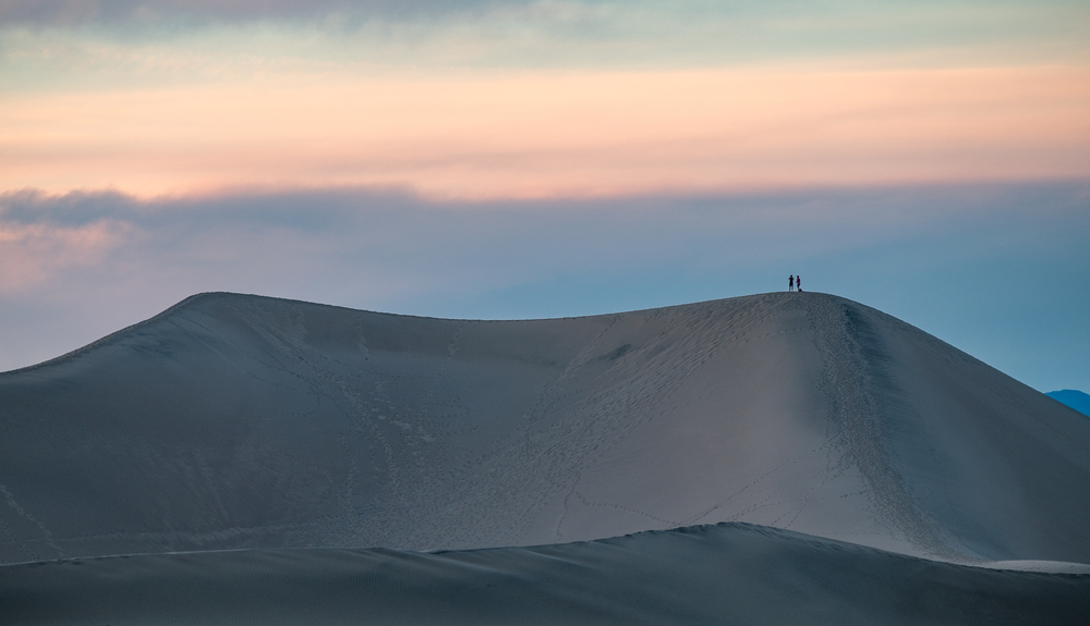 Some people never want to leave the dunes, even after the sun has fallen.