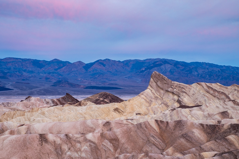 Another pretty sunrise at Zabriskie Point.