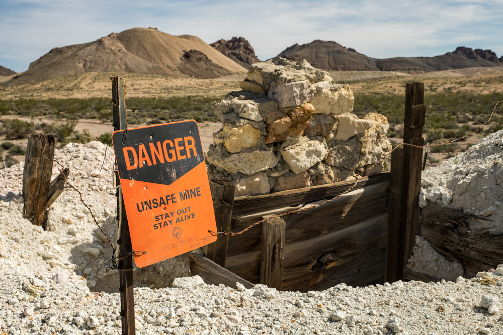 Good advice....stay away from open mines! There are many in this region.