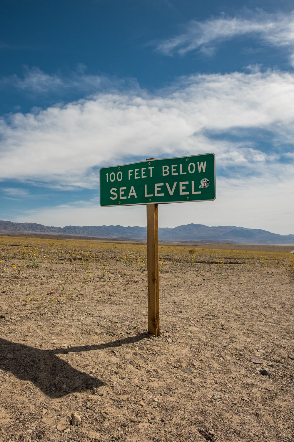Death Valley is home to the lowest spot in North America, and they have the signs to prove it.