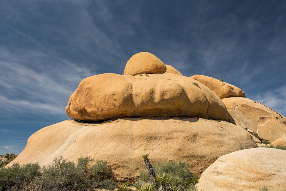 Strange rock formations.