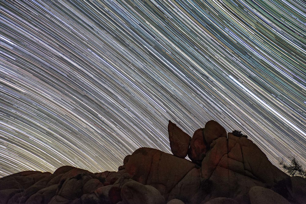 And the stars come out to play in this composite shot of startrails. Hope you enjoyed our photos of our time in Joshua Tree! Onward to the next park...