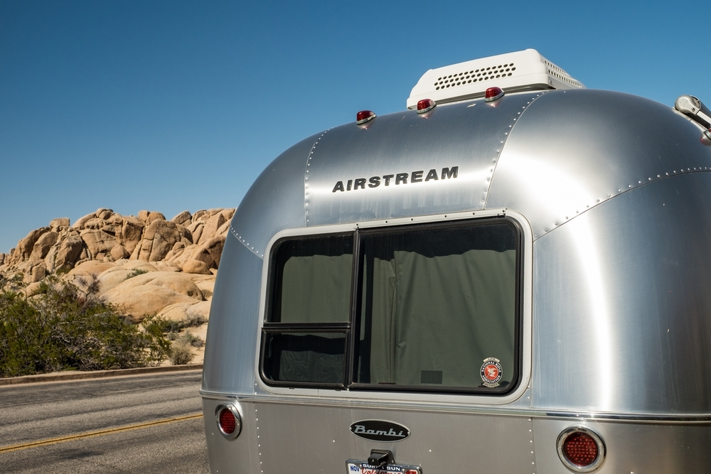 Wally the Airstream in Joshua Tree National Park!